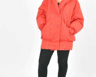Vintage 90's warm winter down jacket