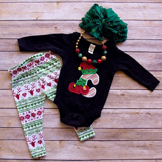 Elf Alphabet Embroidered Christmas Shirt - Boys Christmas Shirt - Girls Christmas Shirt - Kids Christmas Shirt - Christmas Elf