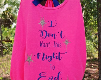 I dont want this Night to End Luke Bryan Concert Tank Top