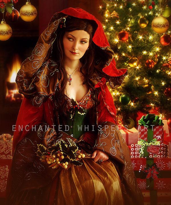 Christmas Art Print Christmas Goddess Art Fantasy X Mas