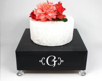 Black Wedding Cake Stand Box. Initial Stand. Black & Silver Cake Stand. Cupcake Stand Display. Cottage Chic Cake Stand. Black Glam Wedding.