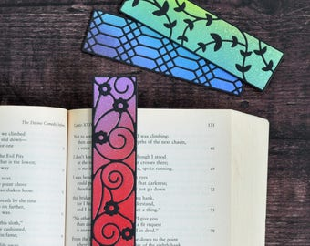 Artist Bookmark Set 4, Set of Three Handmade Bookmarks FREE UK SHIPPING Book Lover Gift stocking stuffer
