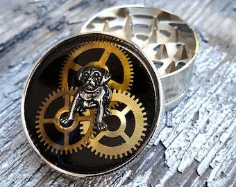 Steampunk Metal Herb Grinder - Steampunk You must LoVe that Bulldog-spice grinder-mint grinder