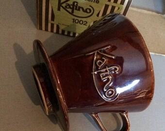 Vintage Ceramic Coffee Filter With Original Box