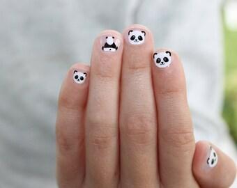 Panda Mini Nail Wraps