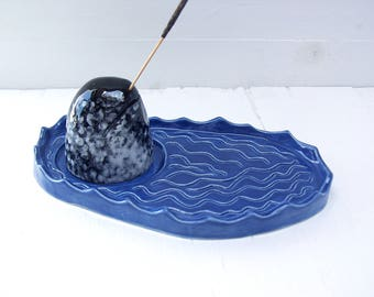 Narwhal Incense Burner. Ceramic Incense Burner In The Shape Of A Narwhal.  With Incense For A Tusk.