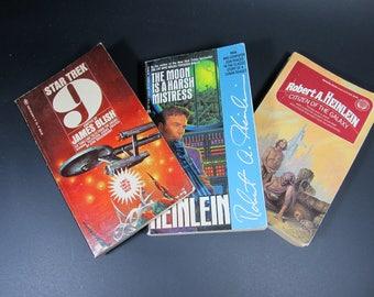 Three vintage science vintage paperbacks