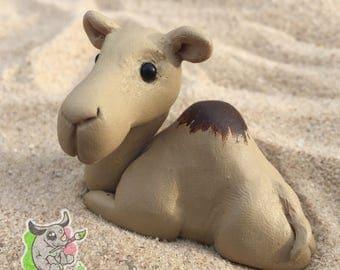 Tiny Camel Polymer Clay Animal Totem OOAK Figurine