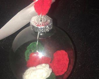 Elf Kisses Personalized Glass Ornaments, Christmas Tree Personalized Ornament, Glass Christmas Tree Ornament,Personalized Ornament for child