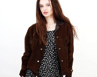 70s Brown Suede Jacket / Suede Jacket / Short Jacket / Boho Jacket /