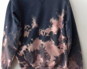 Tie dye sweatshirt, blue pink, purple acid wash Sweatshirt, Crewneck, indie rocker retro, jumper, sweater, die dye sweatshirt, small unisex