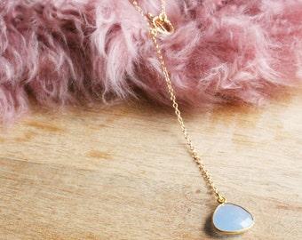 Blue Skies Lariat Necklace