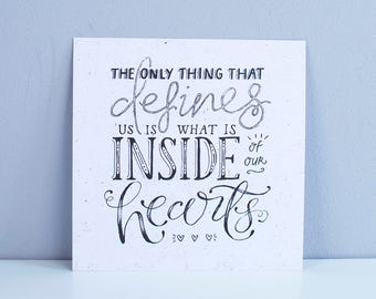 The only thing that defines us – Square A5 Illustrated art print