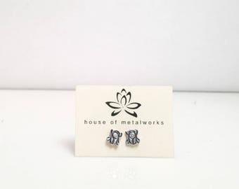 Sterling Silver Mix and Match Tiny Post Earrings