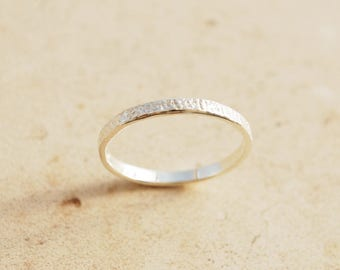 Hammered Stacking Ring, Textured ring, Thin band ring, Unique Silver ring, Sterling Silver thumb ring, Simple band ring, Casual ring