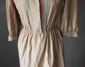 Amazing Vintage Tan Dress...