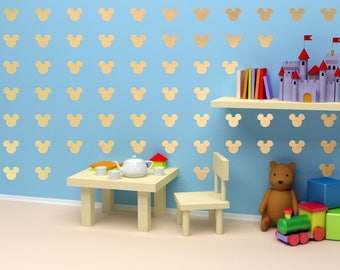 Mickey mouse heads nursery wall decal
