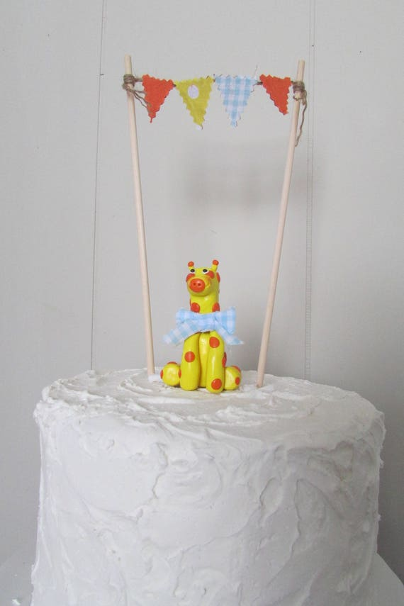 Giraffe Baby Shower Cake Topper Giraffe Baby Shower Baby Boy Cake