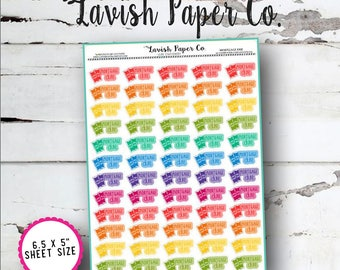 Mortgage Due Planner Stickers by Lavish Paper Co. | Rainbow | for Erin Condren, inkWELL Press, Mormon Mom Planner, Happy Planner & More!