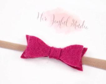 baby headband, baby girl headband, magenta headband, newborn headband, baby girl, baby, infant headband, baby bow, pink bow, MAGENTA