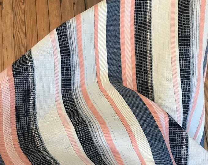 Striped Woven Blend in Millennial Pink, Navy, and White