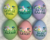Personalized Ceramic Easter Egg - 6 Colors Available