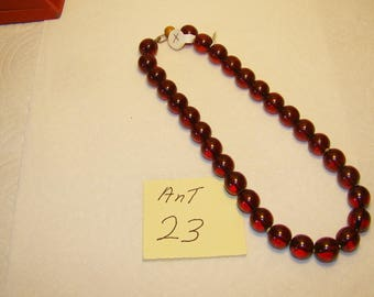 Ant #23 Cherry Amber Necklace