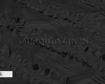 Tablecloths in Black Diagonal Taffeta  - Ideal for Weddings & Bridal Events