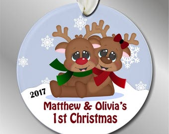 Twins 1st christmas | Etsy