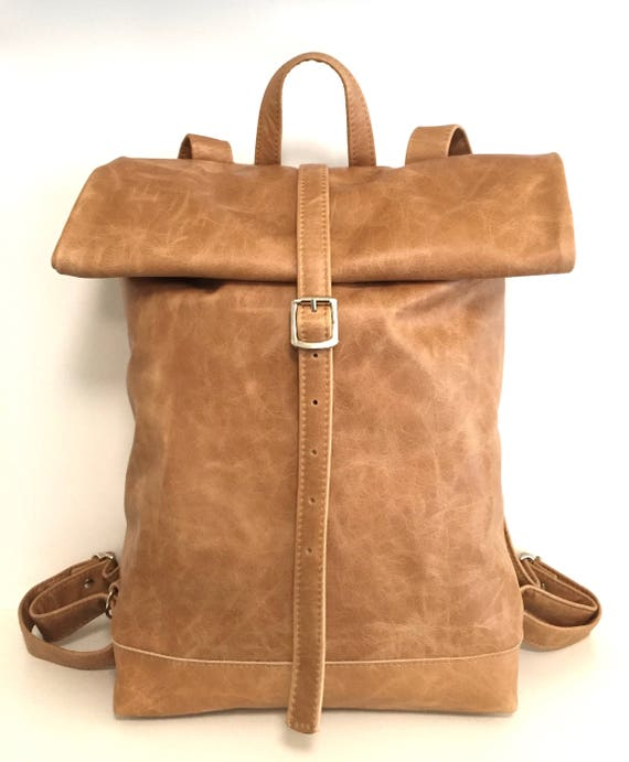 Leather backpack , rolling backpack , backpack leather , brown leather backpack
