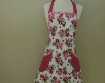 Ladies Apron,  Kitchen Apron, Full Cooking Apron