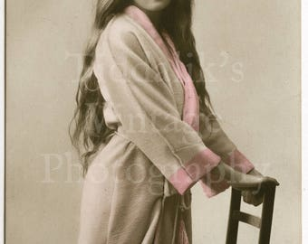 Miss Gladys Cooper Edwardian Actress RPPC Postcard - Hand Coloured - E A Schwerdtieger & Co. - Postmarked