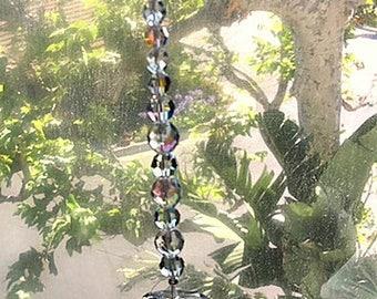Large Clear Crystal Suncatchers, Swarovski Crystal Sun Catchers, Large Octagon and Teardrop Crystal Prism, Prism Suncatchers