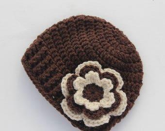 Crochet baby girl hat, baby hat, crochet baby beanie, girl winter hat, infant hat, crochet beanie, baby beanie - MADE TO ORDER