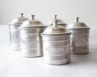 Fathers day Vintage French Kitchen CANISTERS SET / French decor /French kitchen /Shabby chic/ French country /Rustic