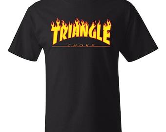 Men's Brazilian Jiu Jitsu Triangle Choke Screen Print T-Shirt