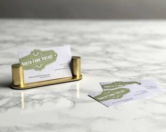 Brass Card Holder / Brass Business Card Holder