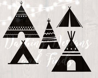 DIGITAL DOWNLOAD teepee - teepee svg - teepee tent - teepee clipart - tribal svg - native - wild svg - tent svg - png files - cut files