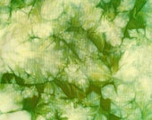 Green Shibori Fabric, Greenery Tie Dye Fabric, Apple Green Fabric, Cotton Hand Dyed Fat Quarter, Quilt Fabric