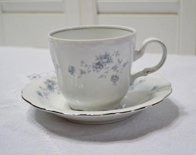 Vintage Haviland Blue Garland Cup and Saucer Set of 8 Blue Floral Bavaria Johann Haviland Replacement PanchosPorch