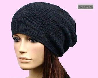 Slouch CAP / HAT Merino anthracite