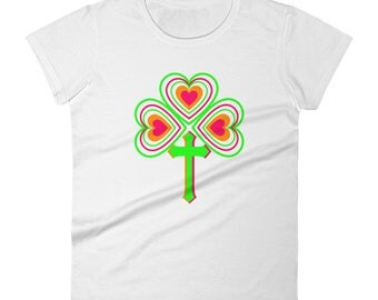 St. Patrick's Day Shamrock Women's Short Sleeve T-shirt