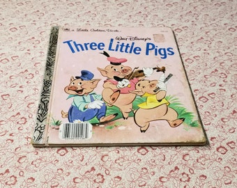 Walt Disney's Three Little Pigs Little Golden Book presented by Donellensvintage