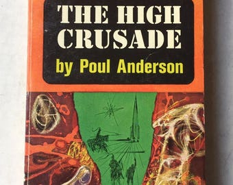 POUL ANDERSON The High Crusade 1960 Science Fiction paperback Richard Powers cover
