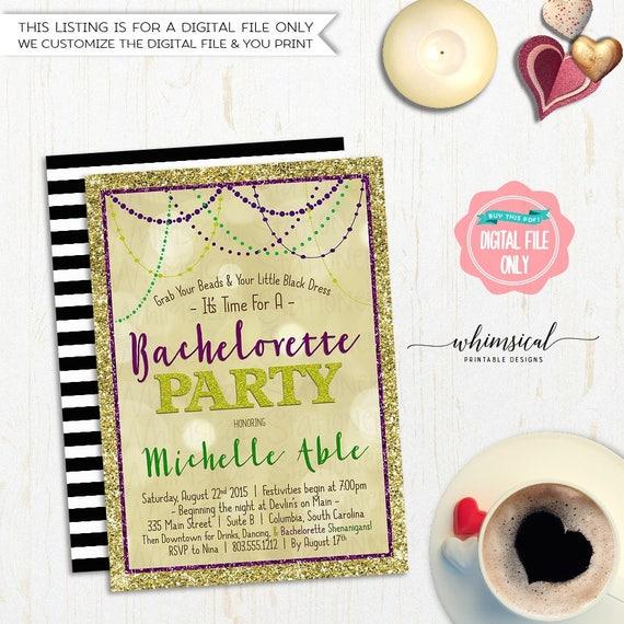Bachelorette party invitation mardi marvelous printable for Bachelorette party ideas new orleans