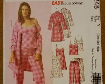 McCall's 5248 - Misses Robe, Belt, Top, Nightgown, Shorts and Pants Pattern - Sizes Extra Small, Small and Medium - Ladies Pajama Pattern