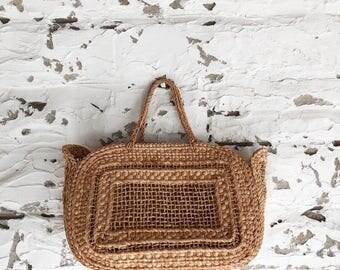 vintage woven market bag