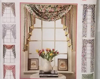 Simplicity 9105 Design Your Own Window Treatments Sewing Pattern