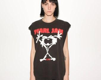1992 Pearl Jam Alive 90s Tour Cut Off Tank T Shirt
