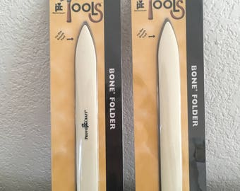 "Set of 2 Provo Craft PC Tools Bone Folder, Craft Creaser, Folder Made from Plastic to Simulate Bone, Fold and Score Tool, 8"" Creasing Tool"